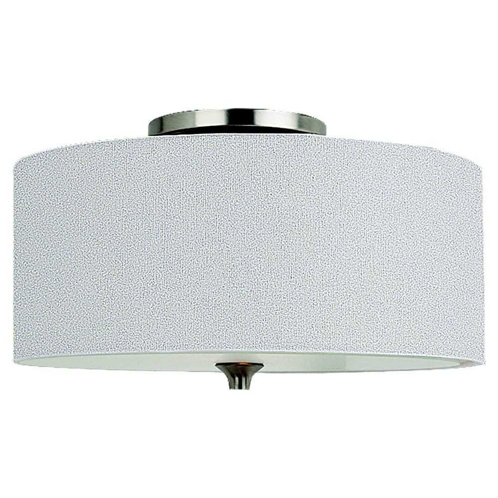 2 Light Brushed Nickel Incandescent Flush Mount