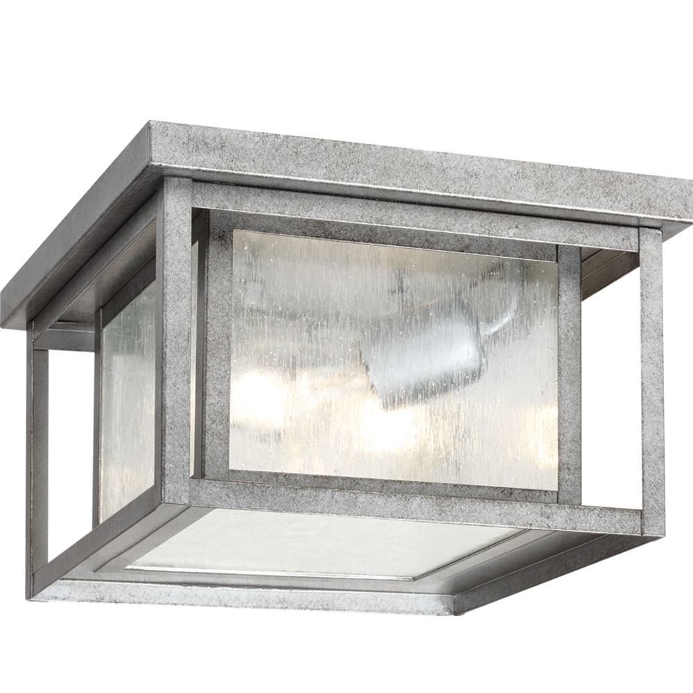 2 Light Weathered Pewter Incandescent Outdoor Flush Mount 78027-57 Canada Discount