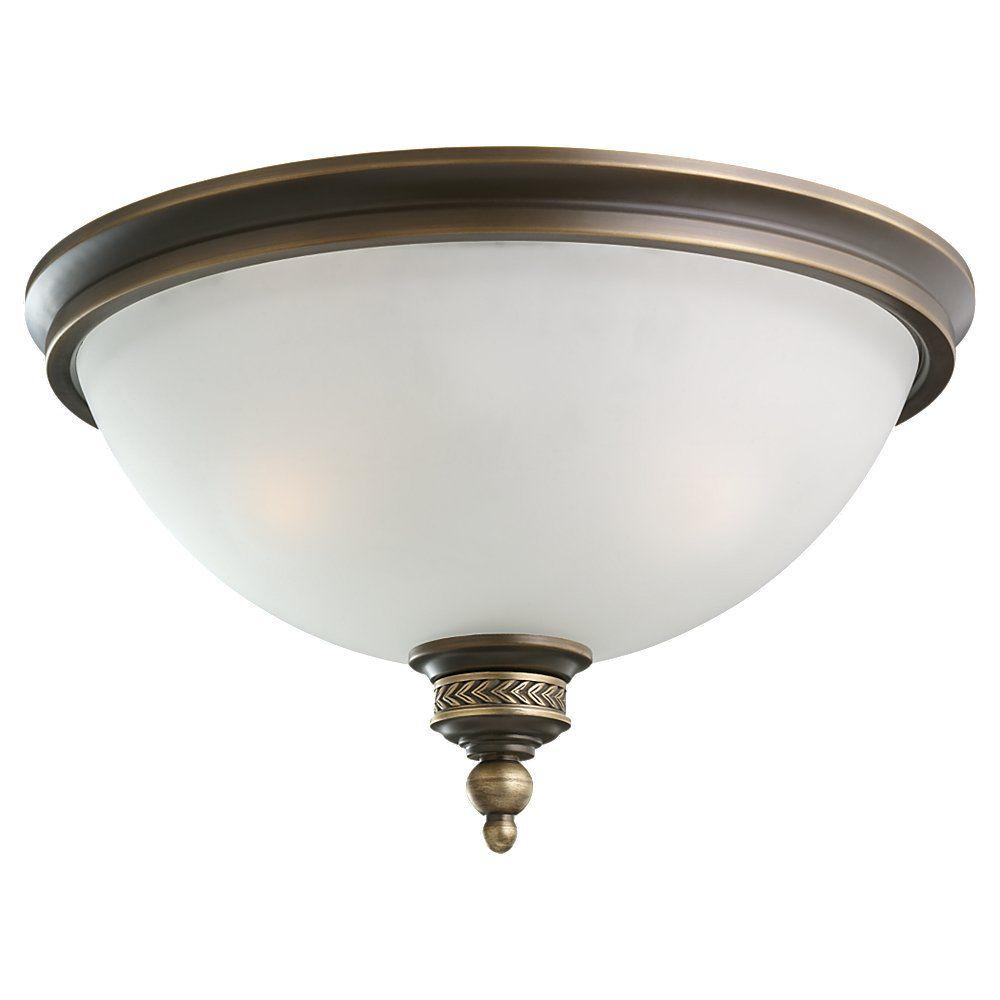2 lumières immobilier Bronze Incandescent encastré