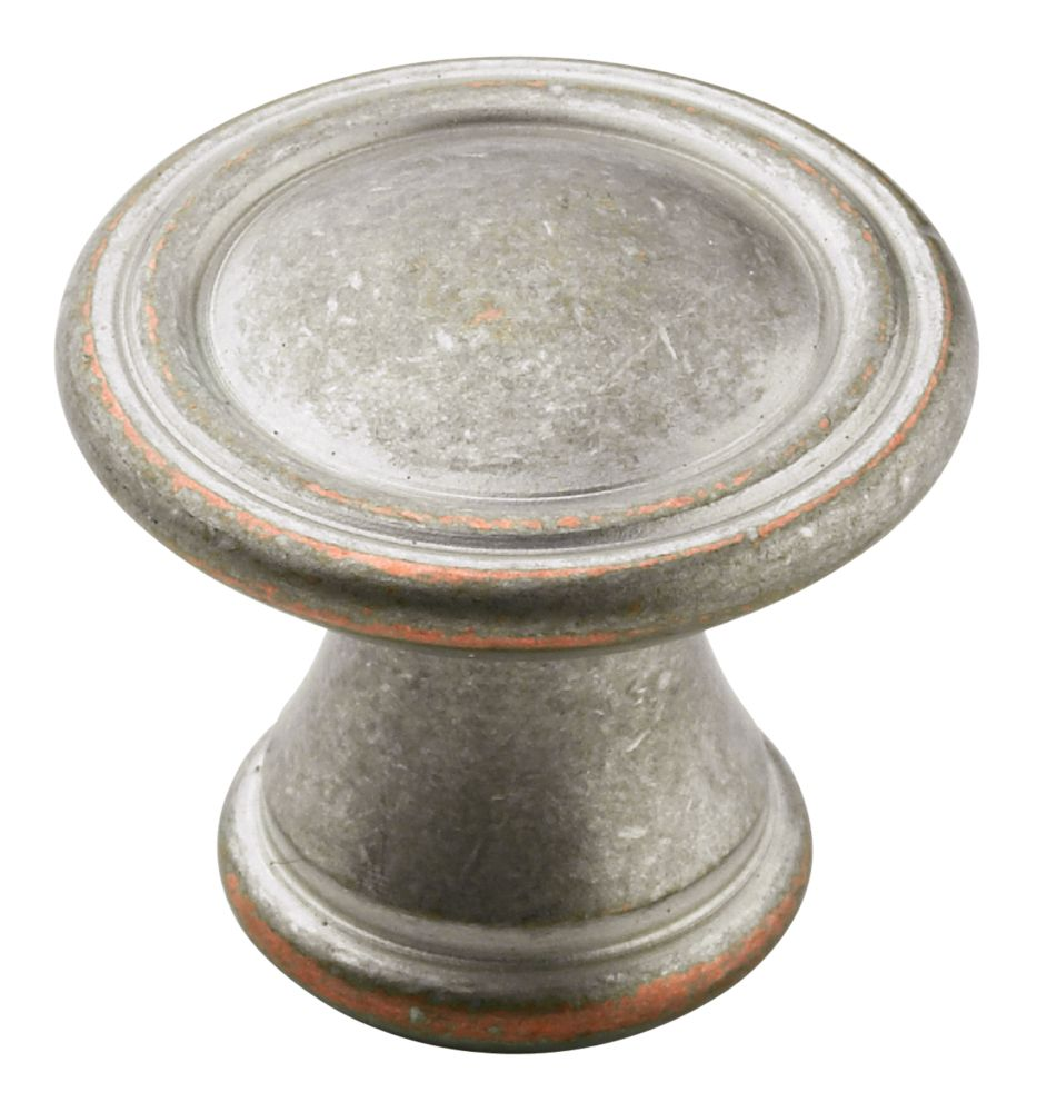 30mm Diameter VASARI  Collection WEATHERED NICKEL COPPER FINISH Knob