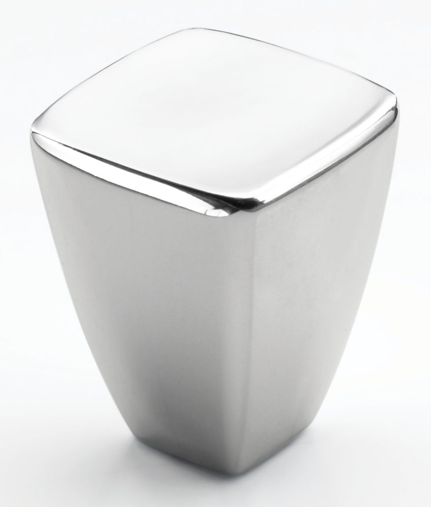 """7/8"""" SQ Diameter CREASED BOW� Collection POLISHED CHROME FINISH Knob"""