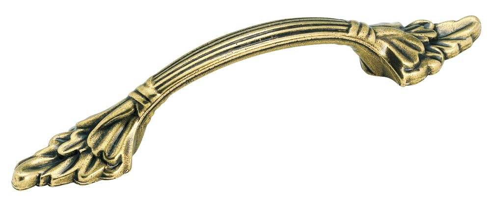 """3"""" Centers NATURAL ELEGANCE<sup>®</sup> Collection BURNISHED BRASS FINISH Pull"""