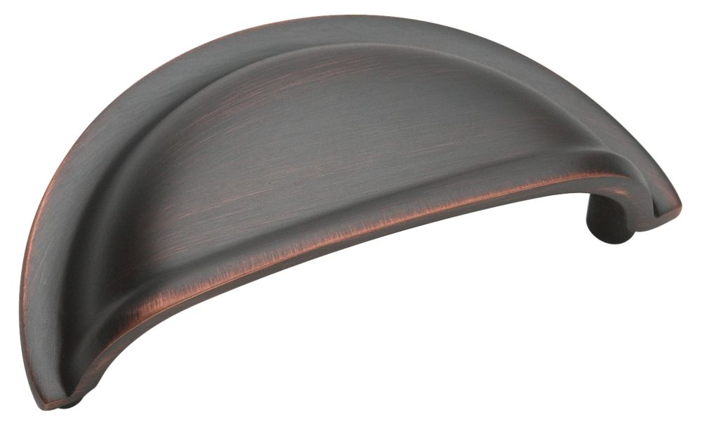 "3"" Centers METAL FINISHES  Collection OIL RUBBED BRONZE FINISH Cup Pull"