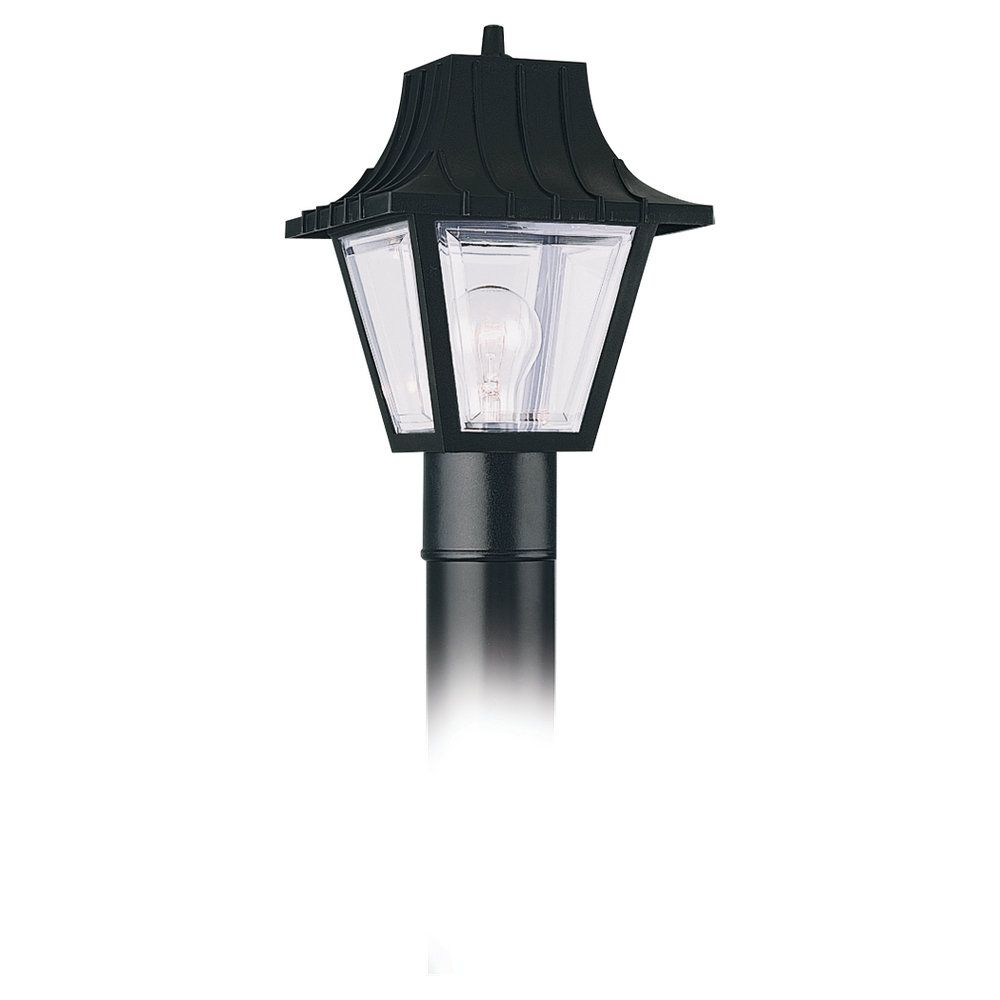 1-Light Clear Outdoor Post Lantern