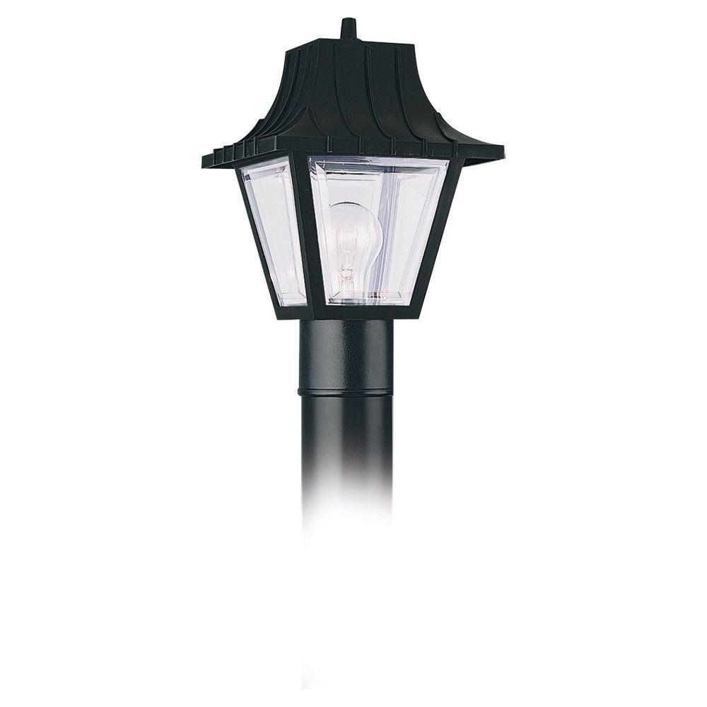 1-Light Clear Outdoor Post Lantern