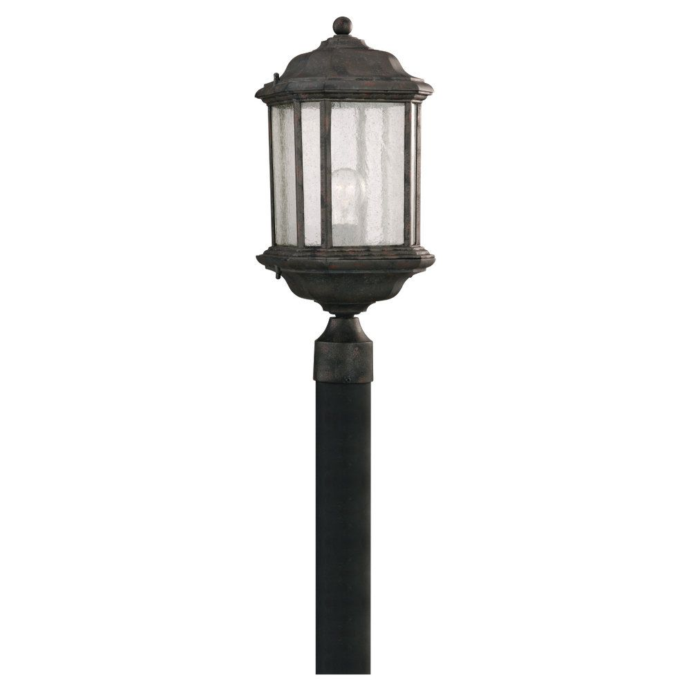 1 Light Oxford Bronze Incandescent Outdoor Post Lantern