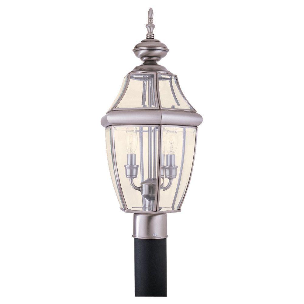 Lumière Seagull fixée au mur à deux ampoules avec abat-jour clair, finition de spécialité