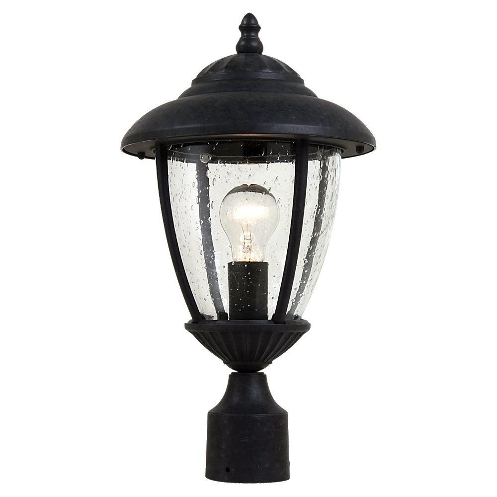 1-Light Oxford Bronze Outdoor Post Lantern