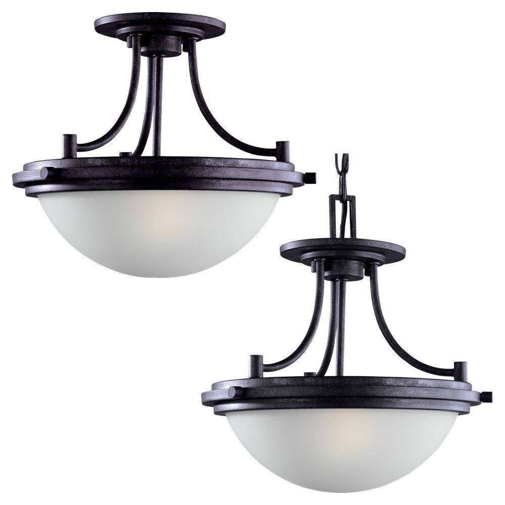 2-Light Blacksmith Semi-Flush