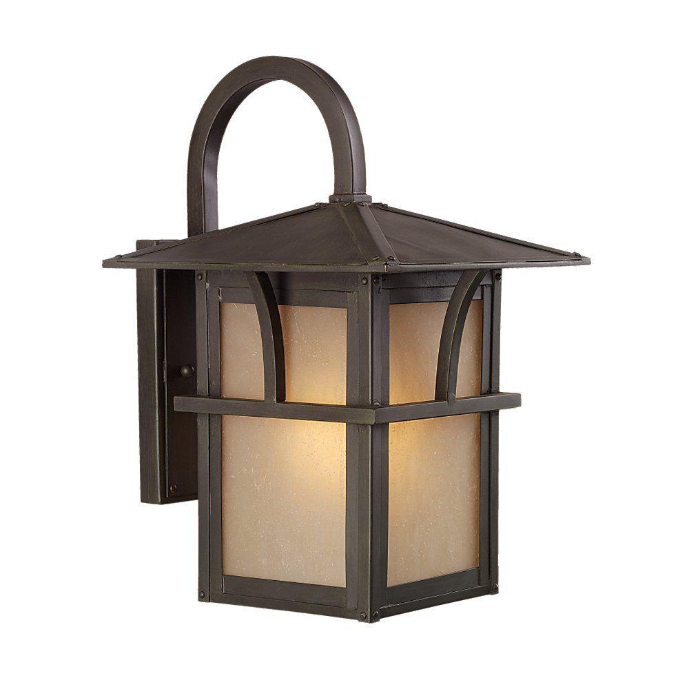 1 Light Statuary Bronze Fluorescent Outdoor Wall Lantern