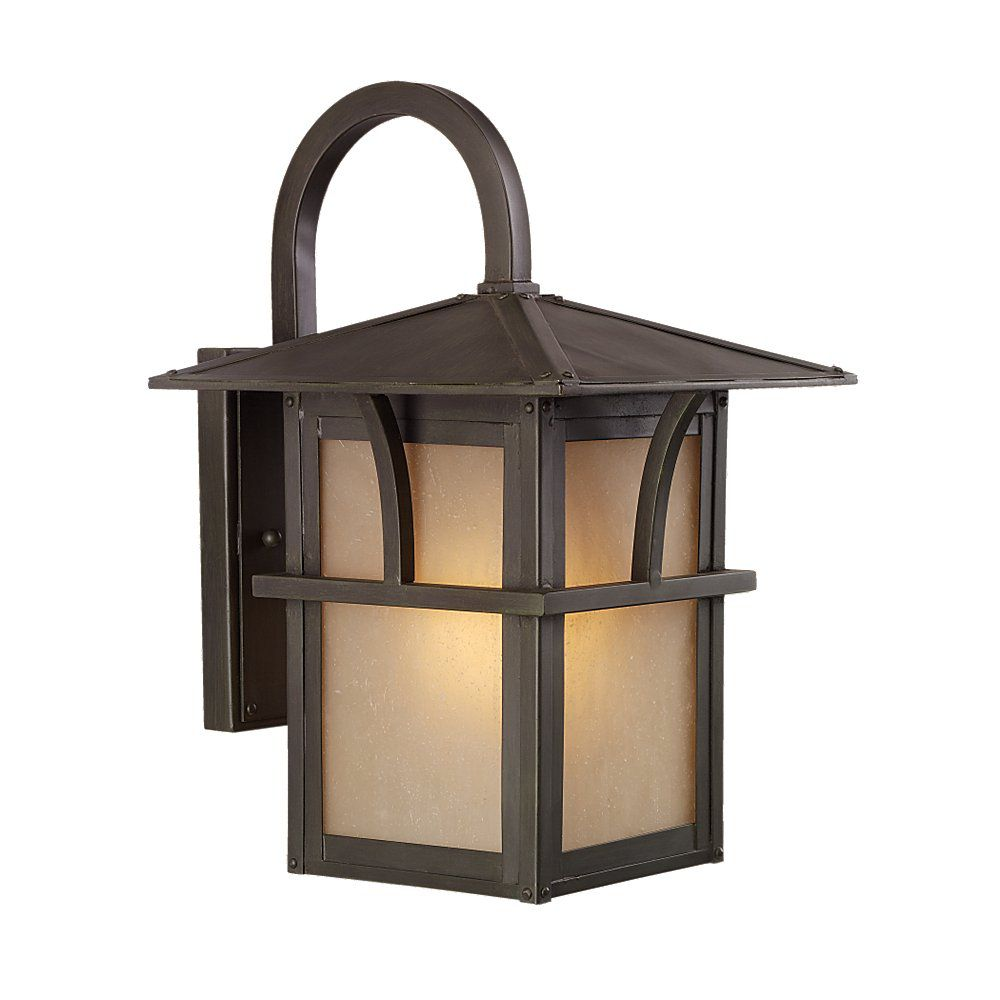 1 Light Statuary Bronze Fluorescent Outdoor Wall Lantern
