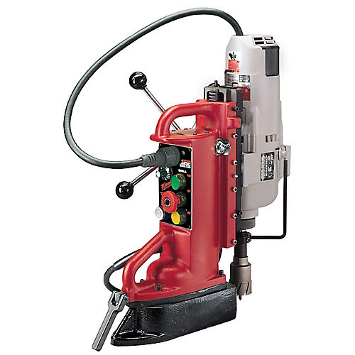 Adjustable Position Electromagnetic Drill Press with 1 1/4-inch Motor
