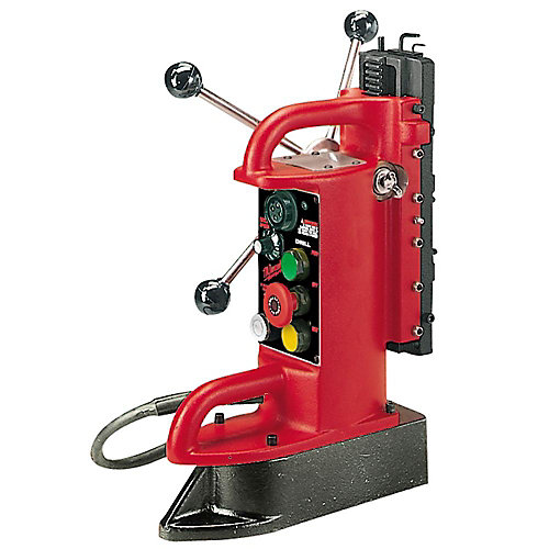 Electro-Magnetic Fixed Position Drill Press Base with 9-inch Drill Travel