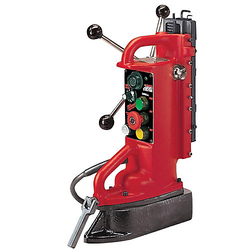 Electro-Magnetic Adjustable Position Drill Press Base with 11-inch Drill Travel