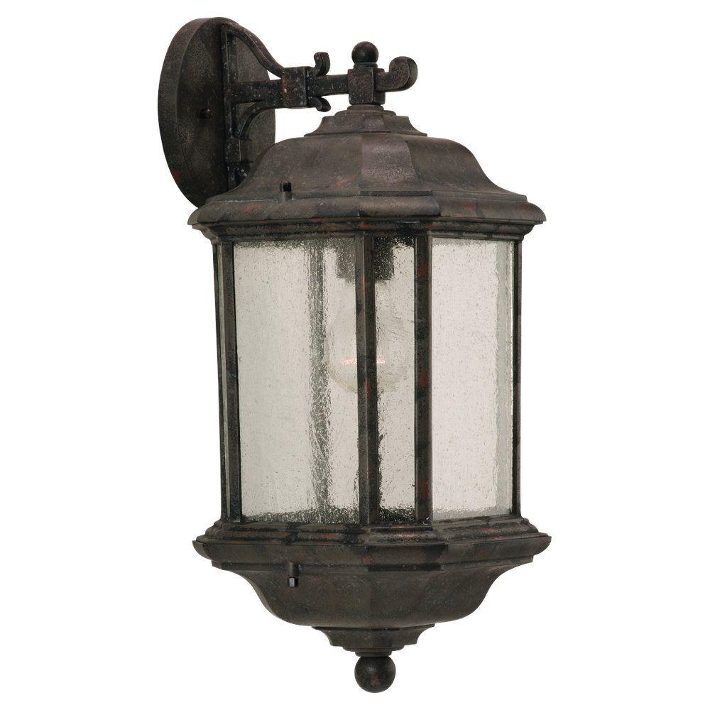1-Light Oxford Bronze Outdoor Wall Lantern