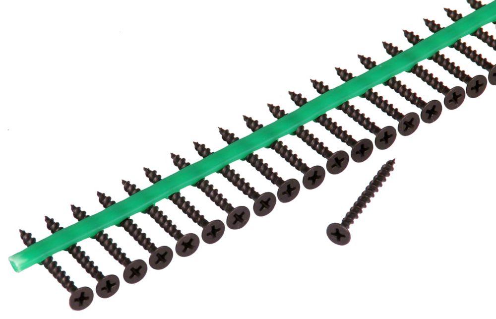Vis de sous-plancher à carré d'entraînement phillips à tête évasée pour alimentation automatique ...