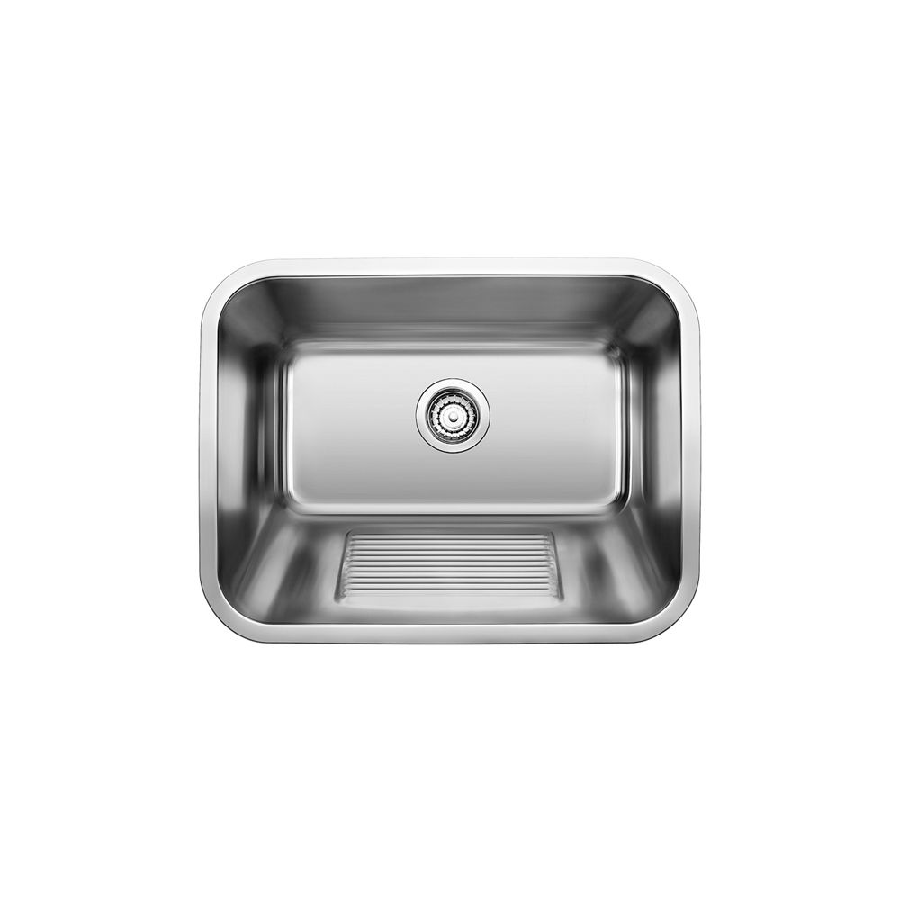 Stainless Steel Laundry Tub, 1-Bowl Topmount