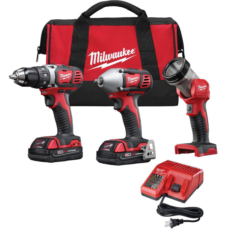 M28 Cordless Lithium-ion Three-Piece Combo Kit