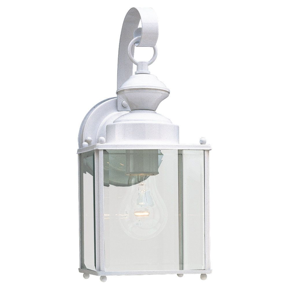 1 Light White Incandescent Outdoor Wall Lantern