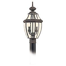 2-Light Antique Bronze Outdoor Post Lantern