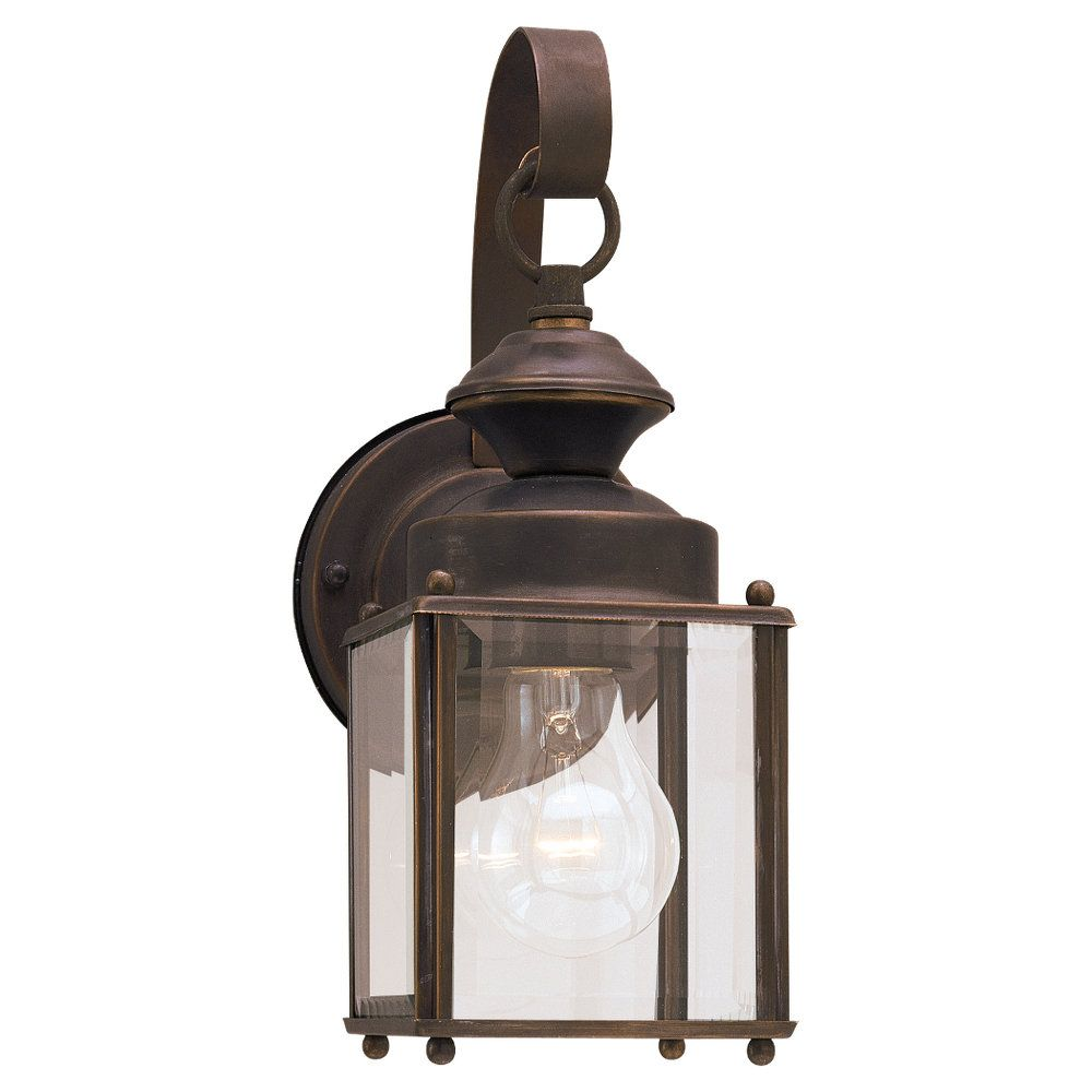 1-Light Antique Bronze Outdoor Wall Lantern