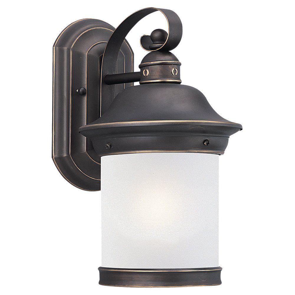 1 Light Antique Bronze Fluorescent Outdoor Wall Lantern