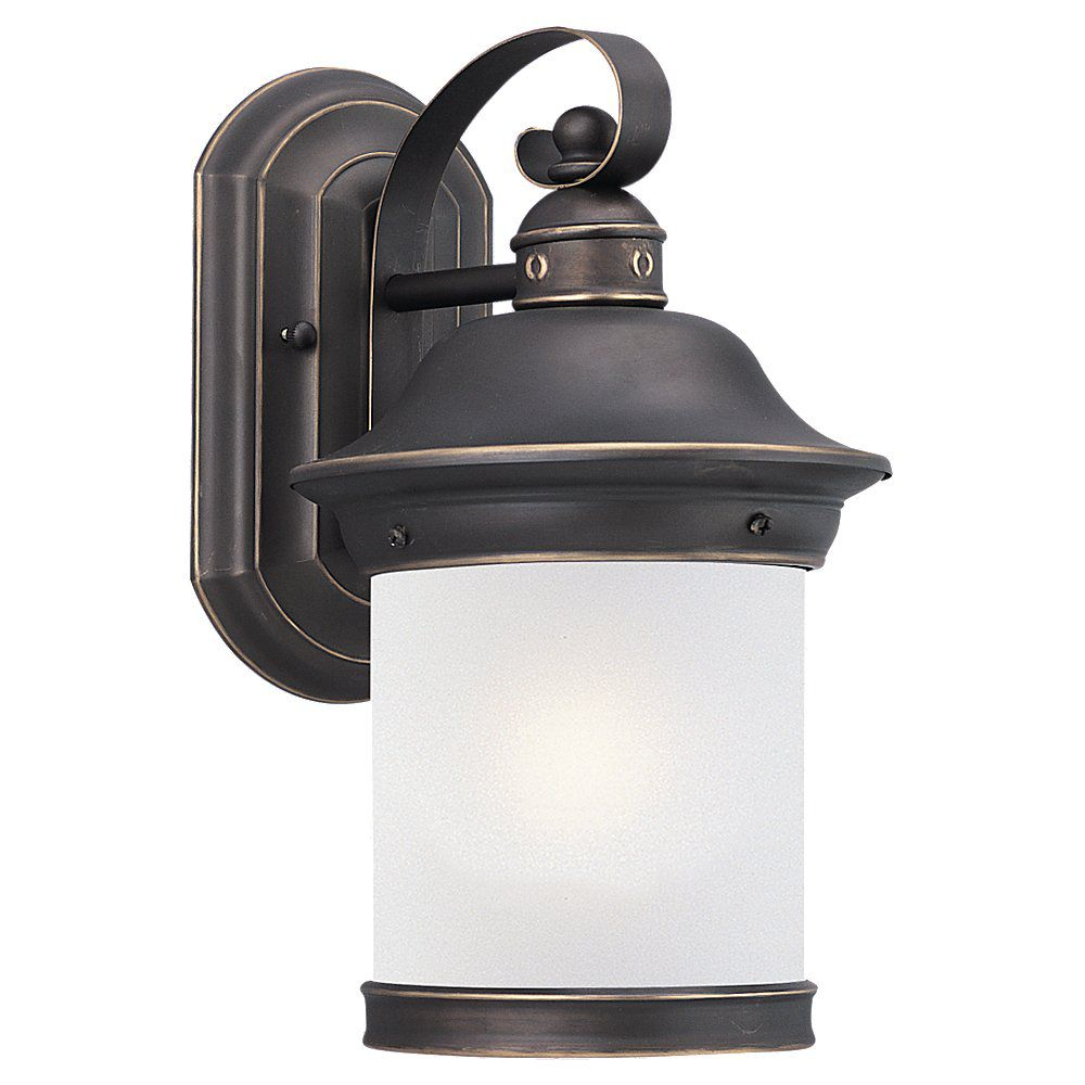 1 Light Antique Bronze Fluorescent Outdoor Wall Lantern
