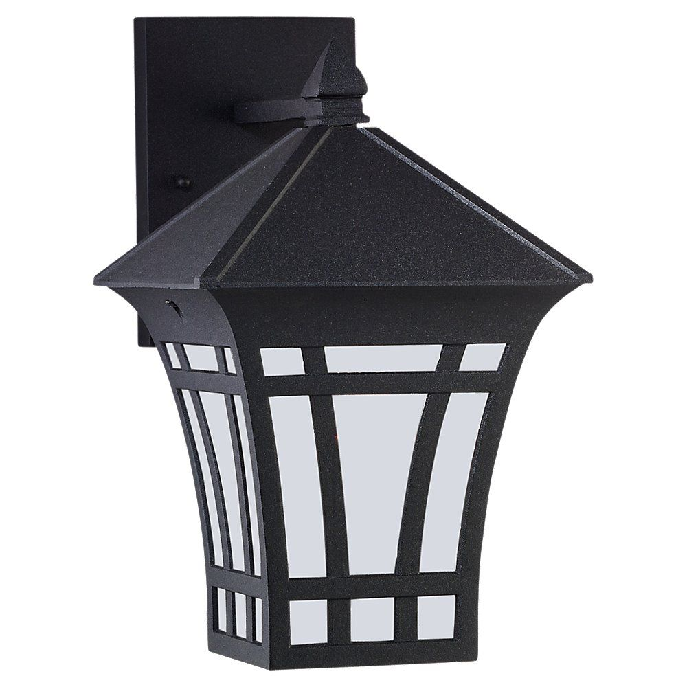 1 Light Black Fluorescent Outdoor Wall Lantern
