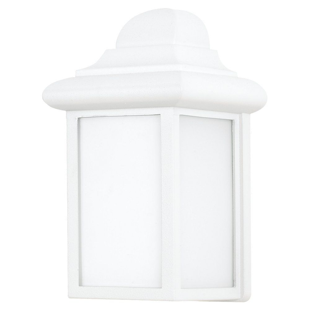 1 Light White Fluorescent Outdoor Wall Lantern