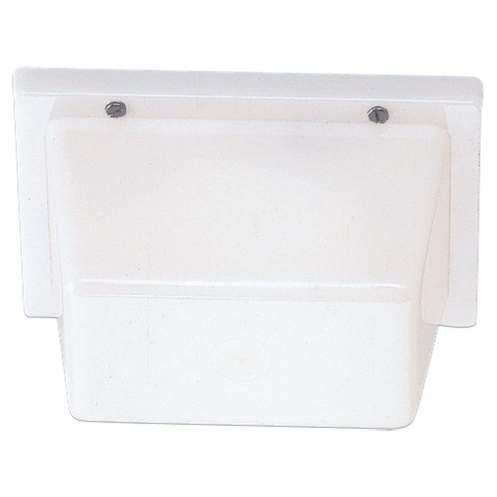 1-Light White Plastic Wall or Ceiling Fixture