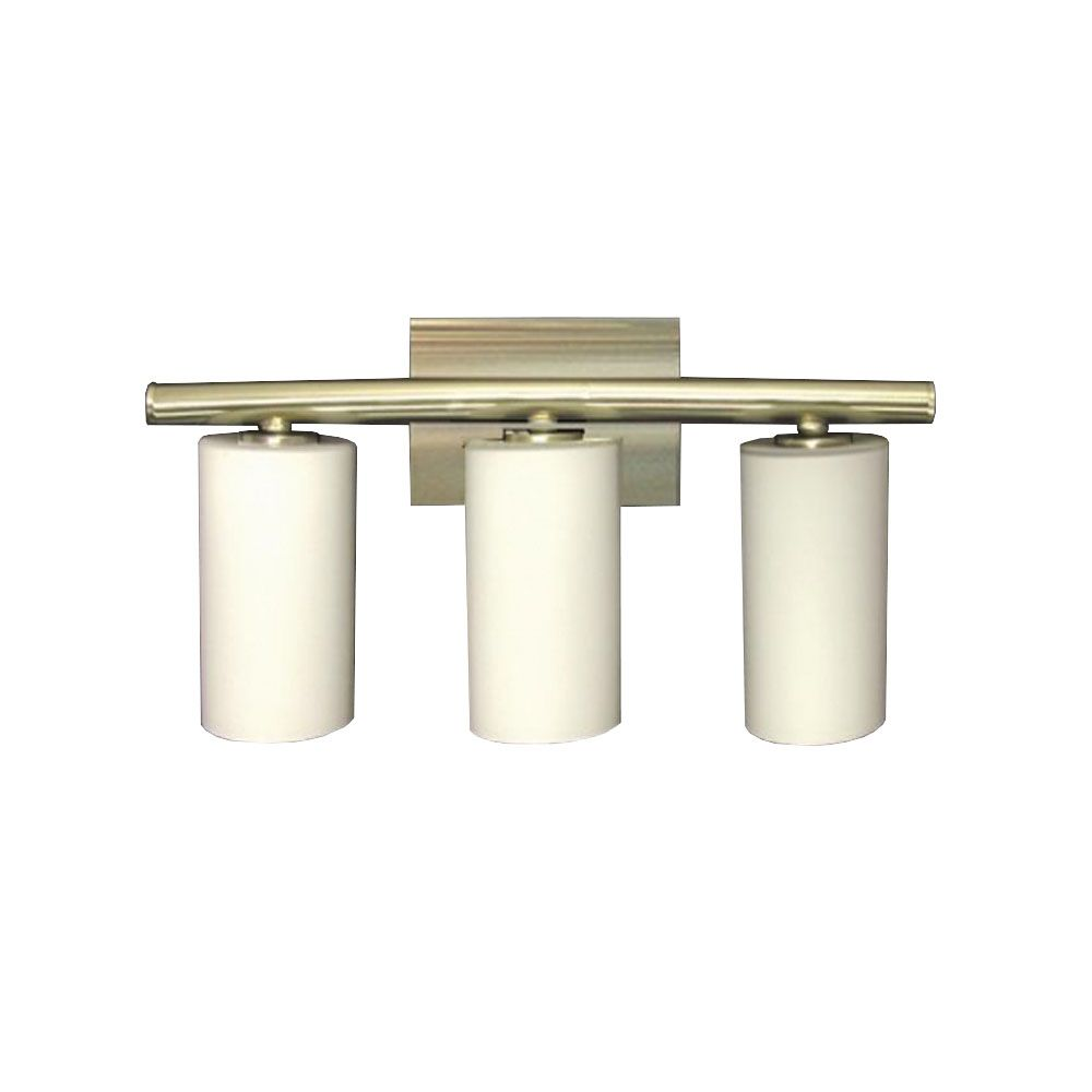 3 Light Vanity Light with Satin Opal Glass and a  Satin Chrome Finish