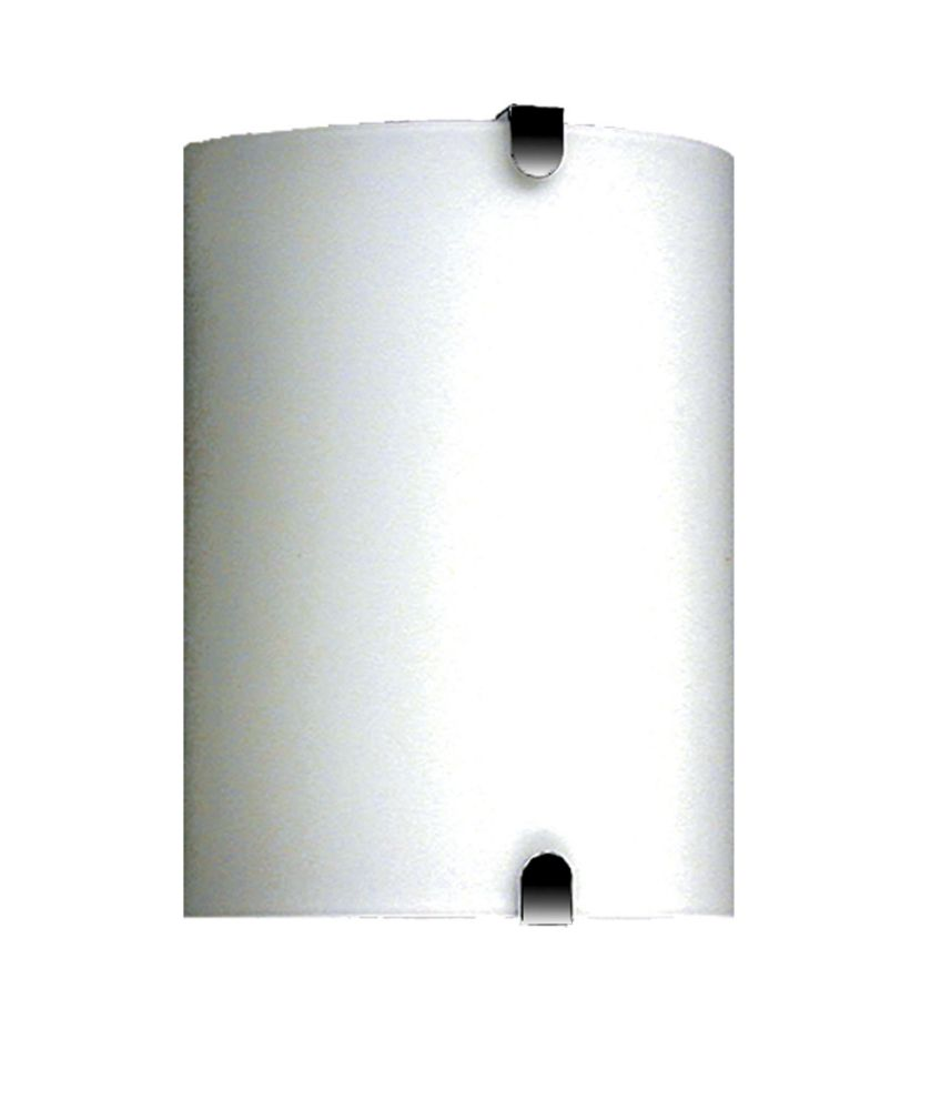 1 Light Wall Sconce with Satin Opal  Glass and a Satin Chrome Finish