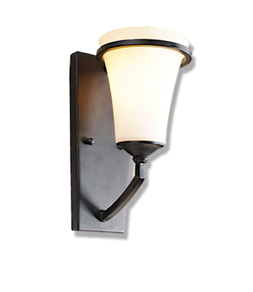 1 Light Vanity Light with Satin Opal Glass and an Antique Bronze Finish