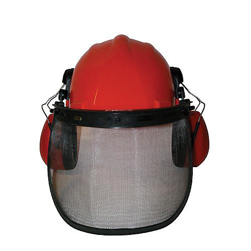 Polyethylene Hard Hat with Eye and Ear Guard
