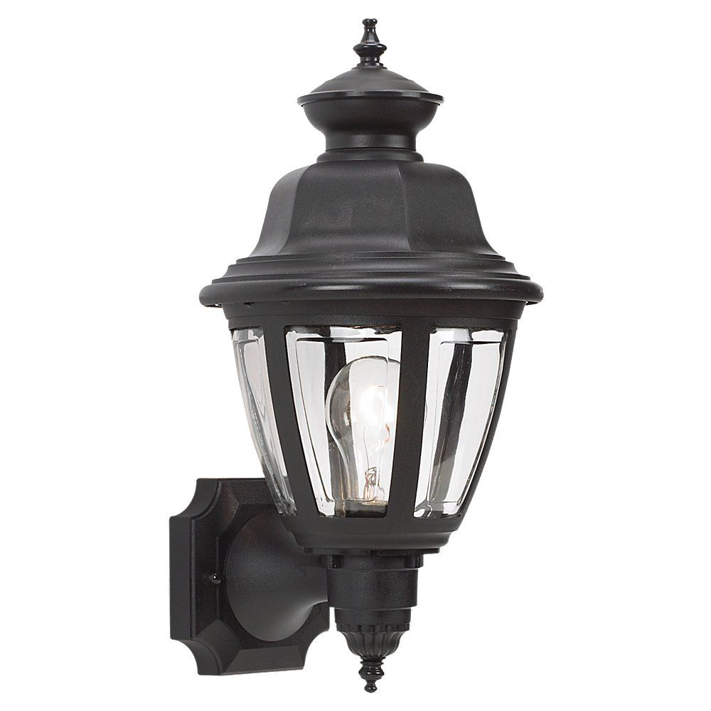 1 Light Black Incandescent Outdoor Wall Lantern 88092-12 Canada Discount