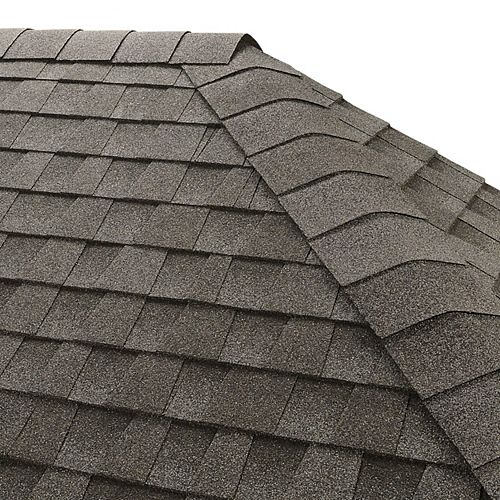 GAF Seal-A-Ridge Pewter Gray Hip and Ridge Cap Roofing Shingles (25 lin. ft. per Bundle) (45-pieces)