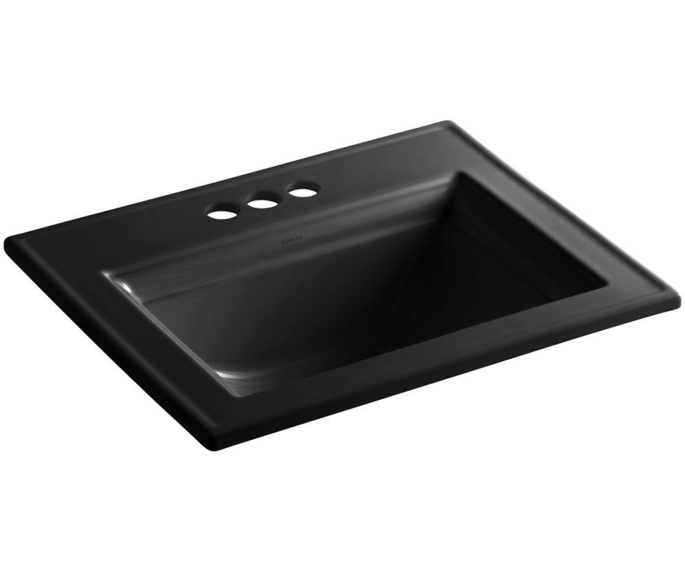 Memoirs 22 3/4-inch L x 18-inch H Self-Rimming Bathroom Sink in Black
