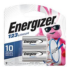 Batterie au lithium 123-2pk
