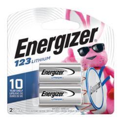 Energizer Piles Energizer 123, paquet de 2