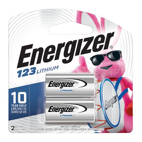 Energizer Energizer 123 Batteries, 2 Pack