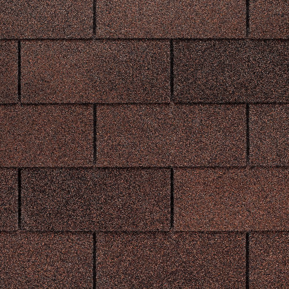 GAF Marquis WeatherMax® Autumn Brown Laminated 3-Tab Roof Shingles (33.3 sq. ft. per Bundle)
