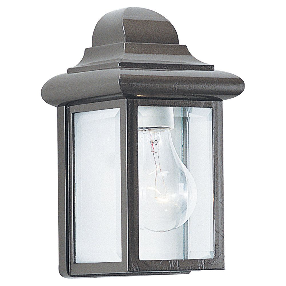 1-Light Bronze Outdoor Wall Lantern
