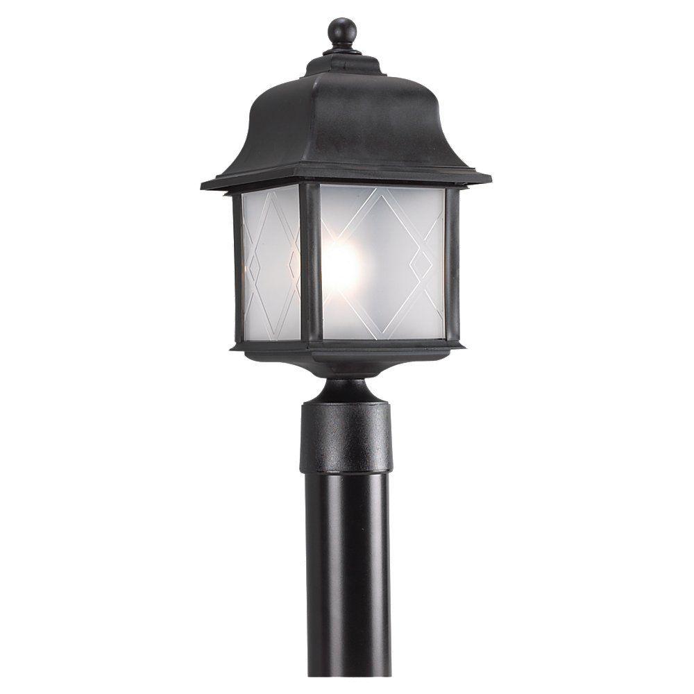 1 Light Black Incandescent Outdoor Post Lantern 82092-12 in Canada
