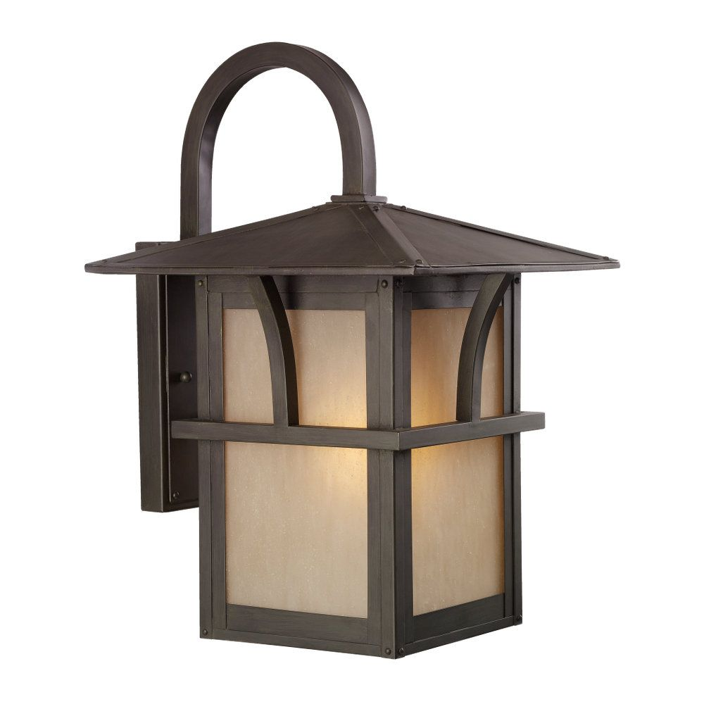 Sea Gull Lighting 3 Light Antique Bronze Outdoor Pendant