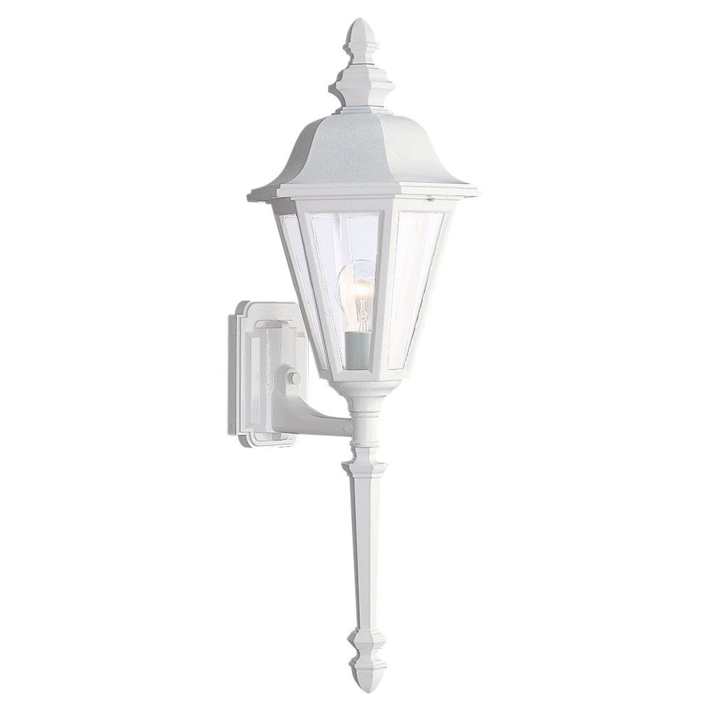1 Light White Incandescent Outdoor Wall Lantern