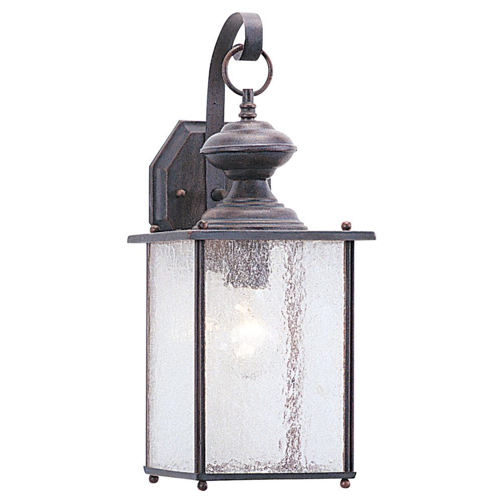 1-Light Textured Rust Patina Outdoor Wall Lantern