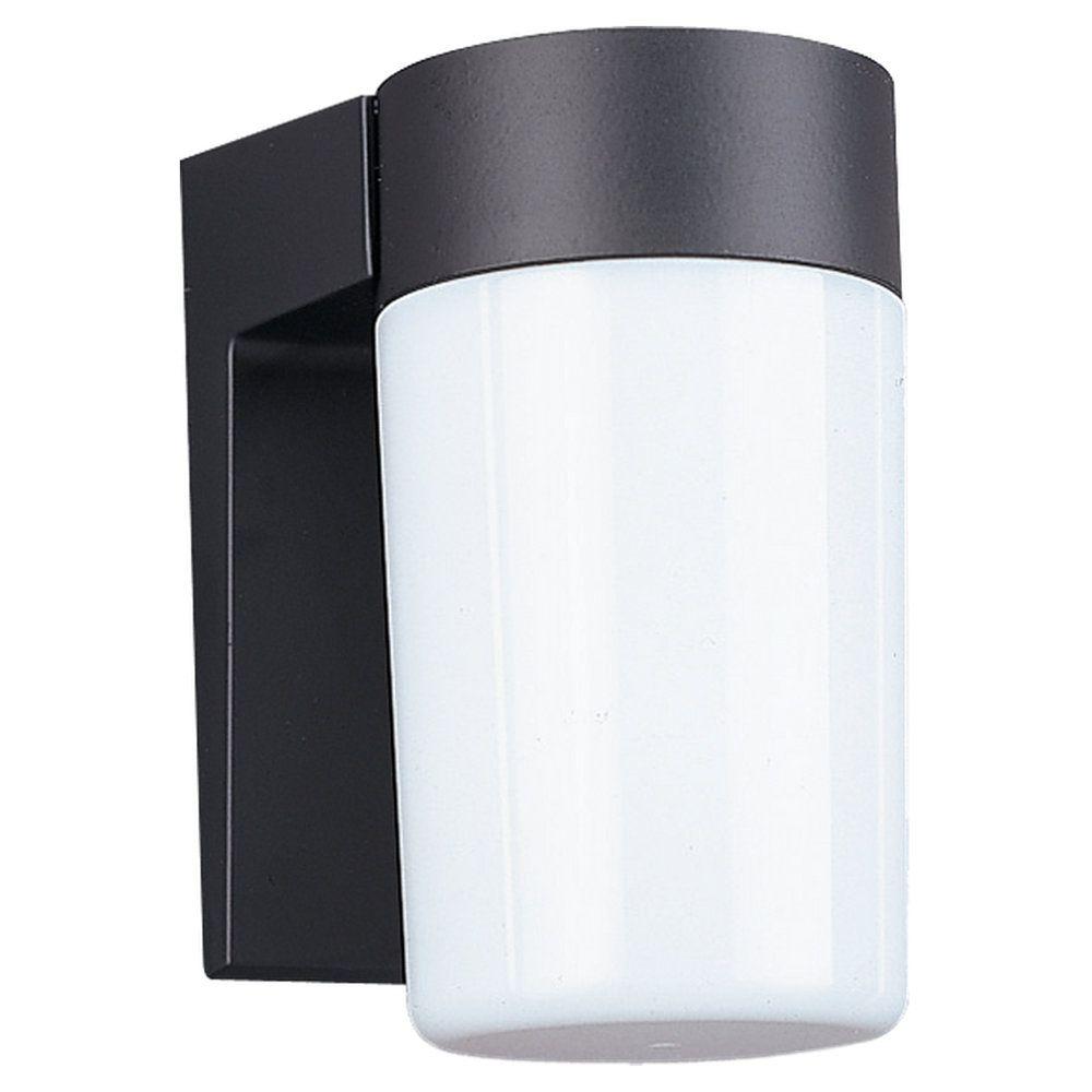 1 Light Black Incandescent Outdoor Wall Lantern