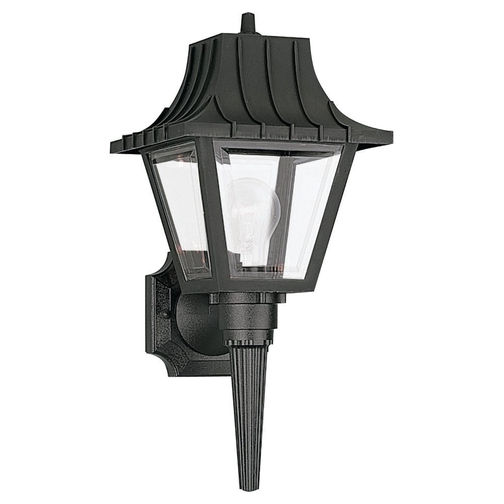 1 Light Clear Incandescent Outdoor Wall Lantern