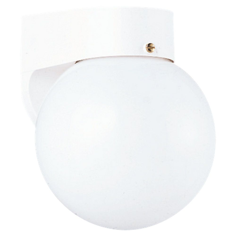 1-Light White Outdoor Wall Lantern