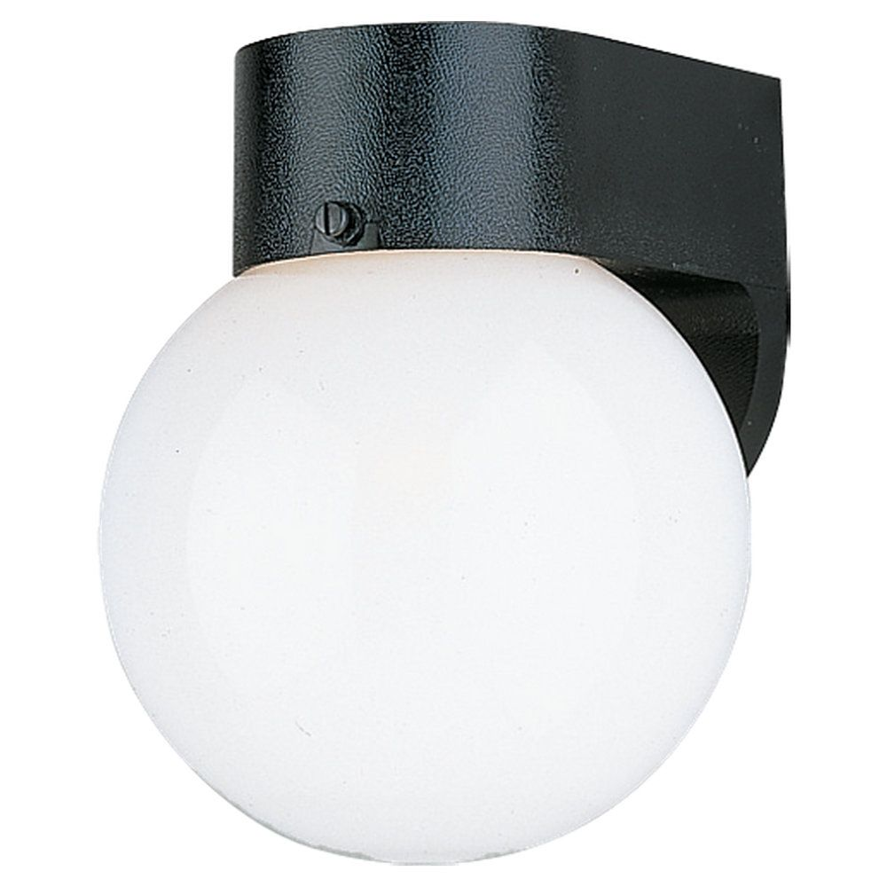 1-Light Smooth White Outdoor Wall Lantern